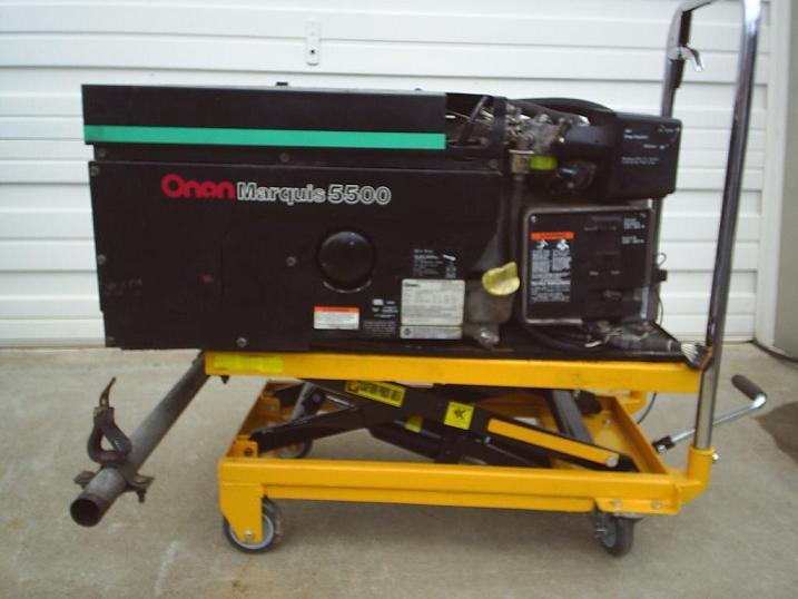 R k products used onan marquis 5500 watt rv generator for Used motor oil generator